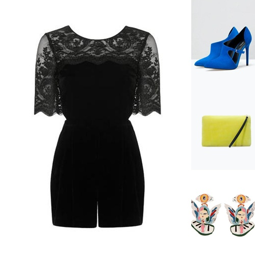 Jumpsuit- TOPSHOP Shoes & Clutch -ZARA Earrings - BIMBA Y LOLA